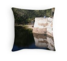 River Fortress Throw Pillow