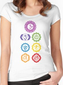7 Chakras  Women's Fitted Scoop T-Shirt