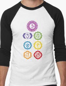 7 Chakras  Men's Baseball ¾ T-Shirt