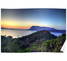 Sardinia - Sunset at Capo Coda Cavallo Poster
