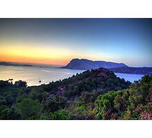 Sardinia - Sunset at Capo Coda Cavallo Photographic Print