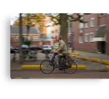 Amsterdam Commuter Canvas Print