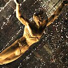 Golden Man Reaching Skyward by Anthony Pipitone