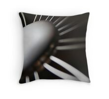 Wired Flower against Black Throw Pillow