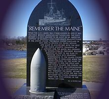 Battleship Maine Memorial (View larger to read) by MaryinMaine