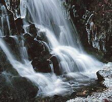 WATERFALL,WINTER by Chuck Wickham