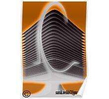 Modern Futuristic Building Poster