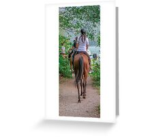 horse riding Greeting Card