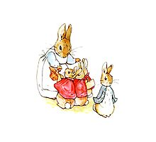 Peter Rabbit and Family Photographic Print
