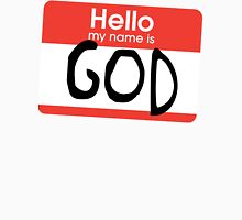Hello, my name is God Mens V-Neck T-Shirt