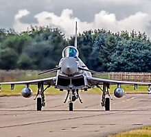 Typhoon taxying in ahead of the storm by Colin Smedley