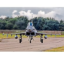 Typhoon taxying in ahead of the storm Photographic Print