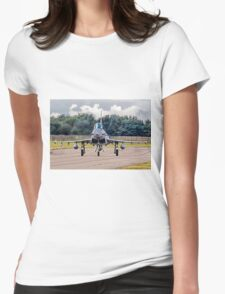 Typhoon taxying in ahead of the storm Womens Fitted T-Shirt