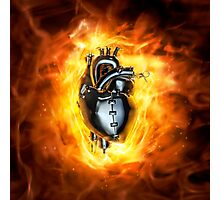 Heavy metal heart Photographic Print