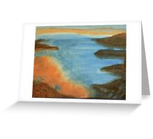 Heading Out From the Coves, watercolor Greeting Card