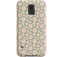 Vintage green pink retro girly pattern Samsung Galaxy Case/Skin