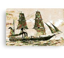 The Arctic Store Ship Valorous, Arctic expeditions of 1875-6  Canvas Print