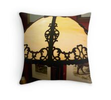 ANTIQUE TIFFANY LAMP   ^ Throw Pillow