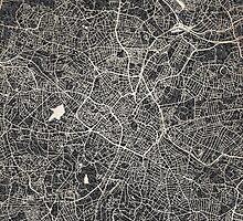 Birmingham map by InkMaps