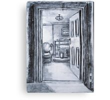 View into Sitting Room (in Charcoal) Canvas Print
