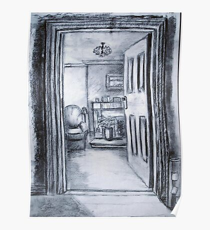 View into Sitting Room (in Charcoal) Poster