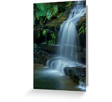 Terrace falls Hazelbrook Greeting Card