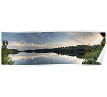 Ardingly Reservoir Panoramic Reflection Poster