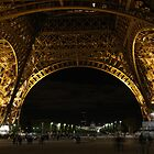 Paris by night: Eiffel tower (1) by Goca
