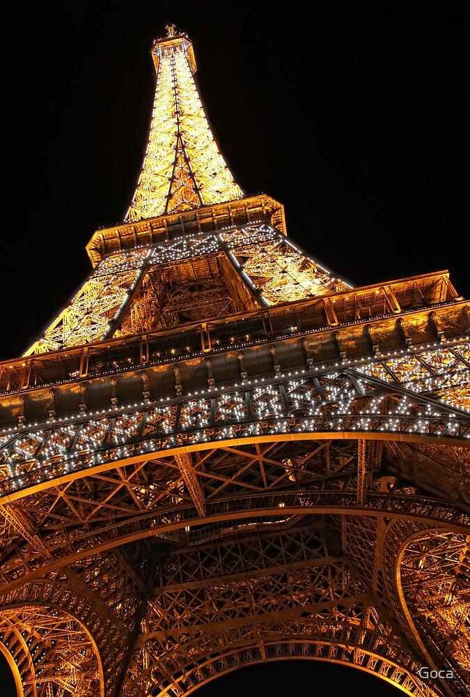 Paris by night: Eiffel tower (2) by Goca