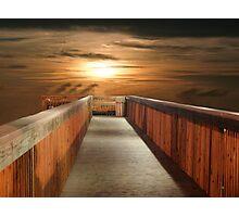 Walkway to Sunset Photographic Print