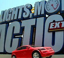 Lights, Motor, and Action Extra Stunt Show by searchlight