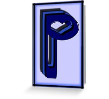 The Alphabet  The letter P Greeting Card