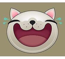 HAPPY CAT FACE Photographic Print