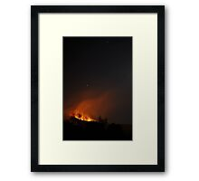 Fire on Kerry Mountain Framed Print