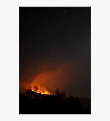 Fire on Kerry Mountain Photographic Print