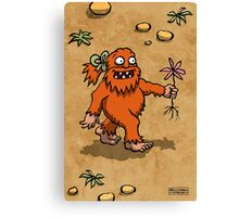 Handsome Yowie has a Flower Canvas Print