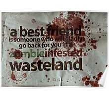 Zombie Infested Wasteland Poster