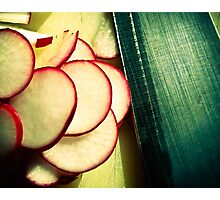 Radishes are good for me and good for you. Photographic Print