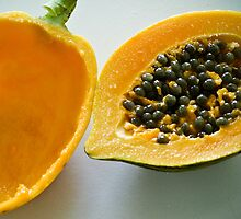Fresh papaya in Grenada, West Indies by xtalline