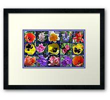 Flowers of Spring Collage Framed Print