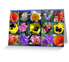 Flowers of Spring Collage Greeting Card