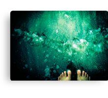 Toes in the water - Grenada, West Indies Canvas Print