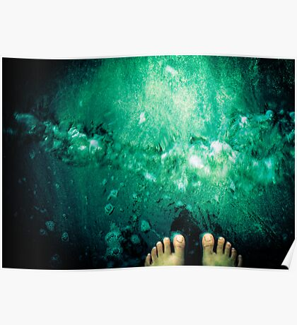 Toes in the water - Grenada, West Indies Poster