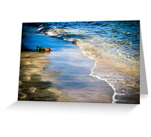 Lonely pineapple washed ashore - Grenada, West Indies Greeting Card