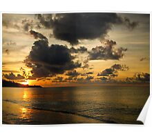 Orange sunset - Grenada, West Indies Poster