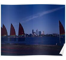 Sails on the Swan Poster
