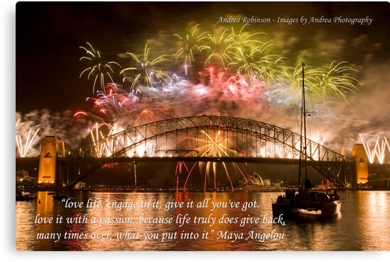 engage fireworks on the sydney harbour bridge with quote by andrea robinson