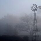 Foggy morning at the ranch by John E. McAlear