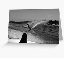 Water fall going side way Greeting Card