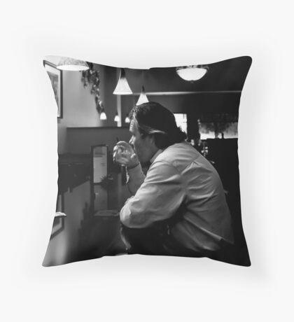 A Man Alone Throw Pillow